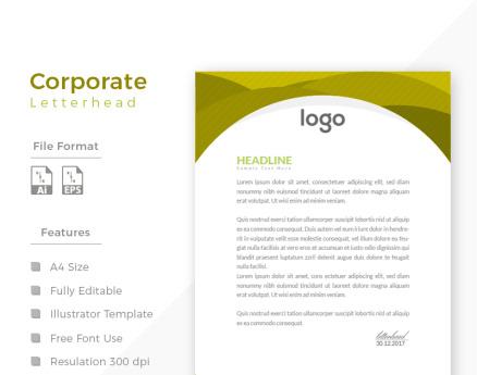 Design Express Beautiful Letterhead Corporate Identity