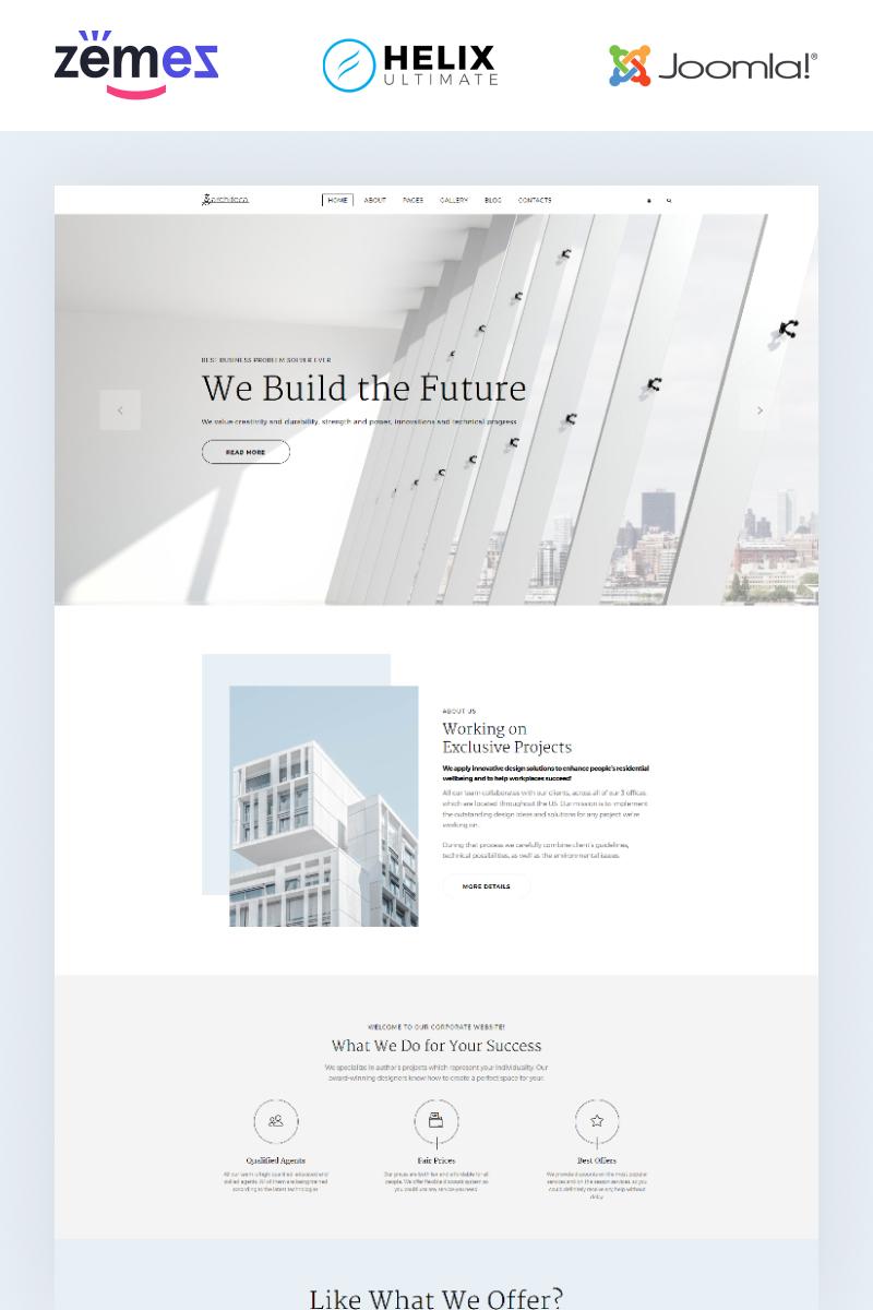Architeca - Architecture Agency Multipage Stylish Template Joomla №86175 - captura de tela