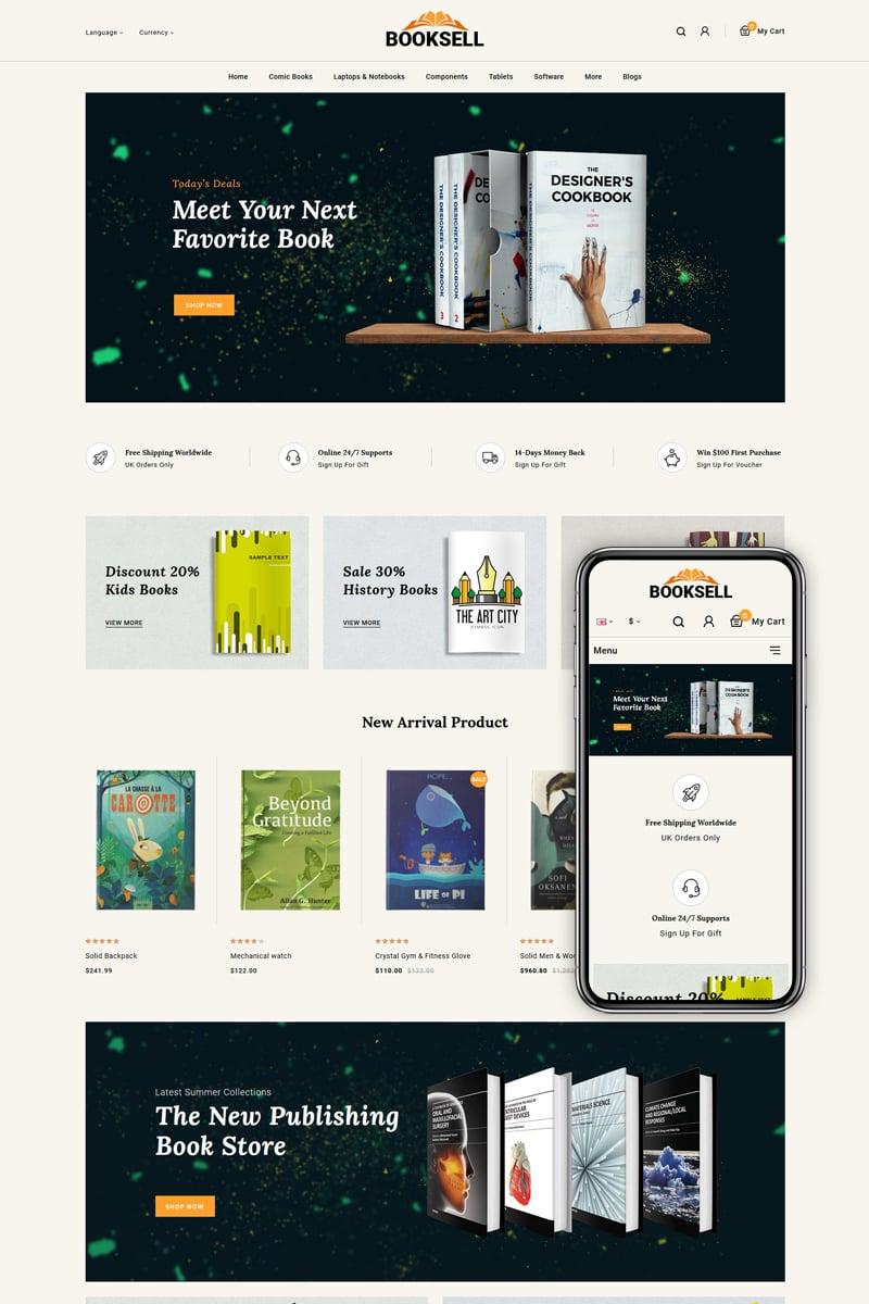 """Booksell - Stationery Store"" thème OpenCart adaptatif #86134 - screenshot"