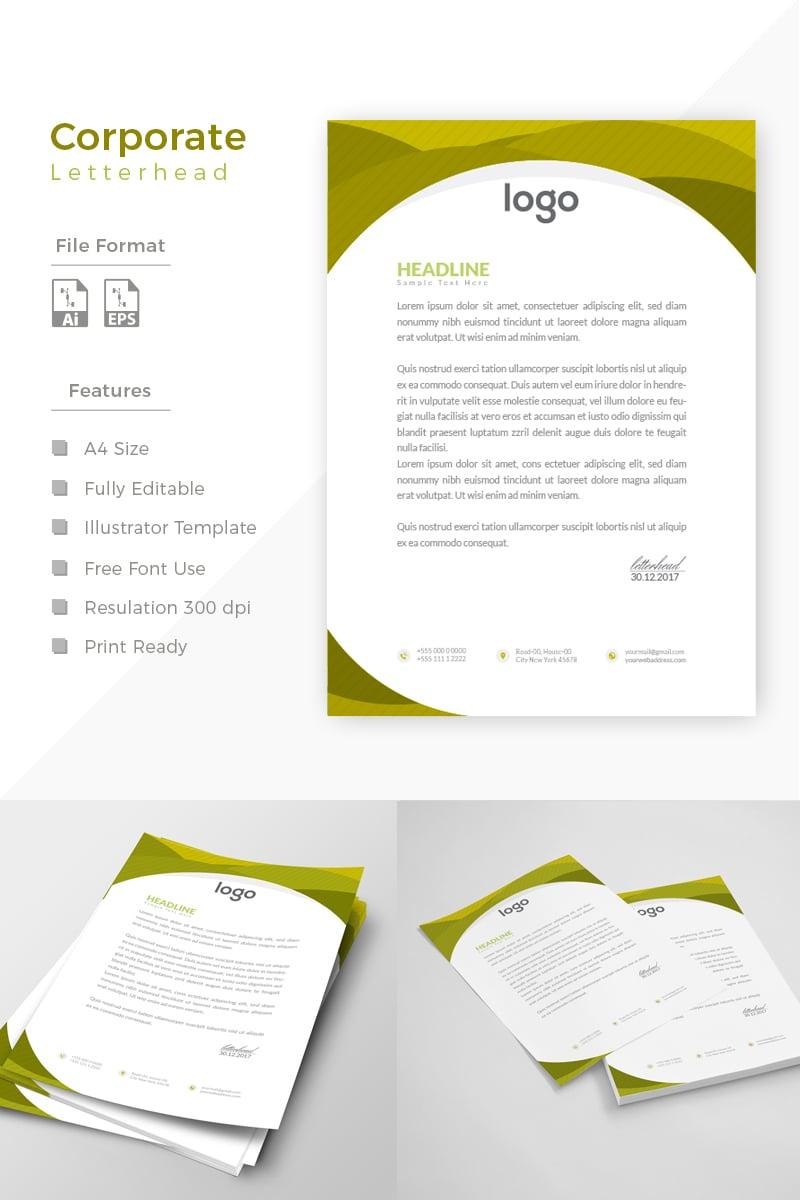 """Design Express Beautiful Letterhead"" - Шаблон фірмового стилю №86184 - скріншот"