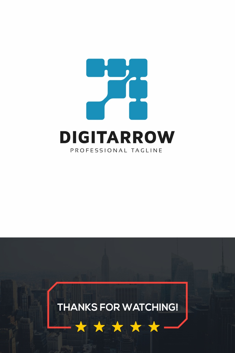 Digital Arrow Logo Template