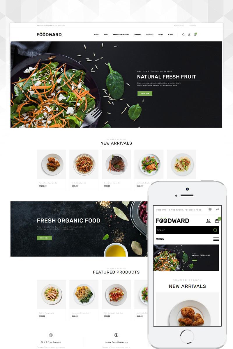 """Foodward - Restaurant Store"" Responsive OpenCart Template №86101"