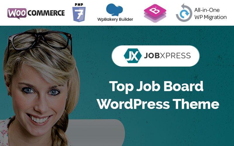 """""""Jxpress - Job Board"""" Responsive WordPress thema №86173"""