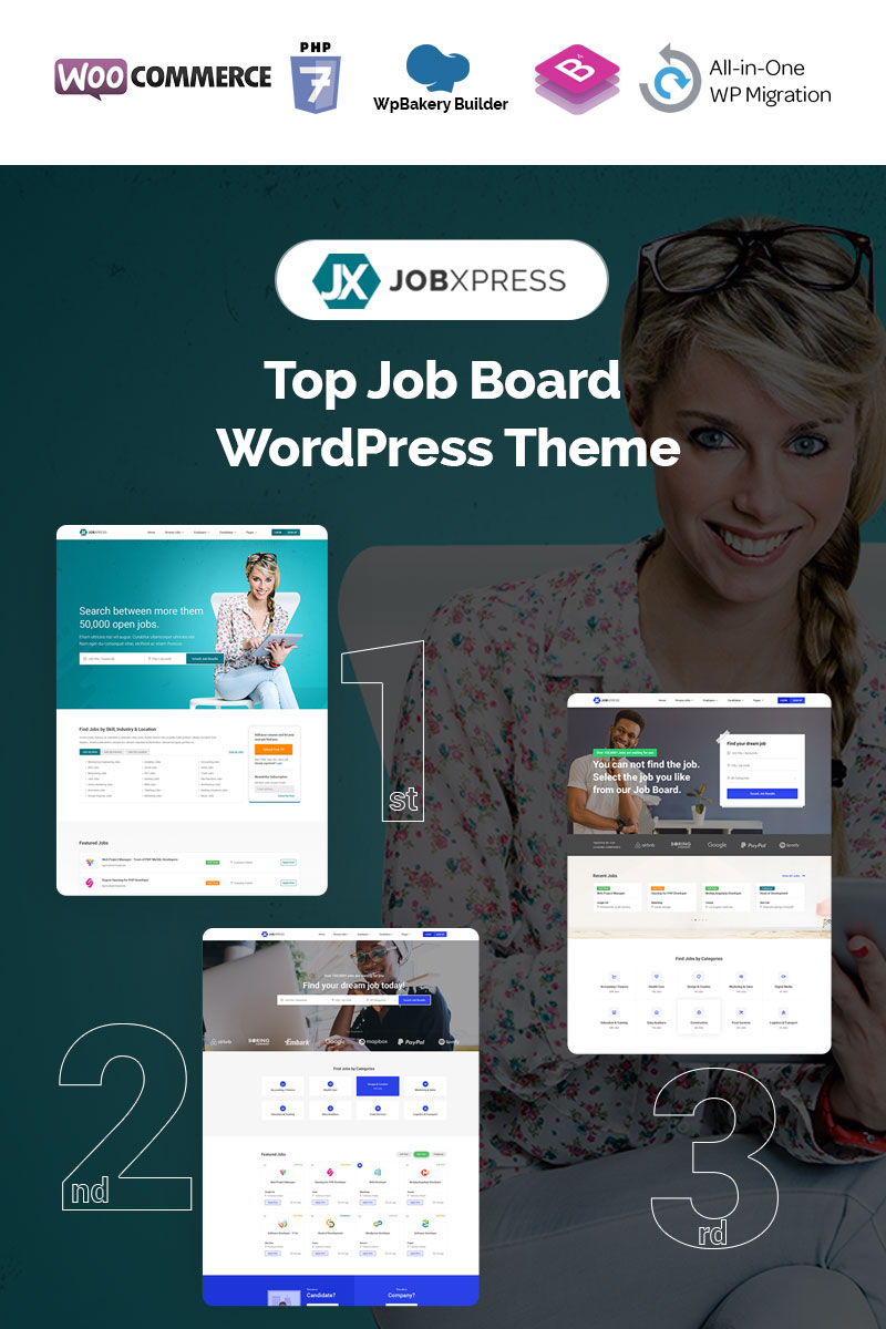 Jxpress - Job Board WordPress Theme - screenshot