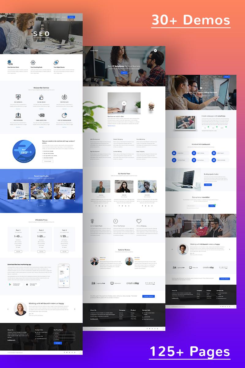 Letslaunch - Responsive Multipurpose HTML5 Website Template - screenshot