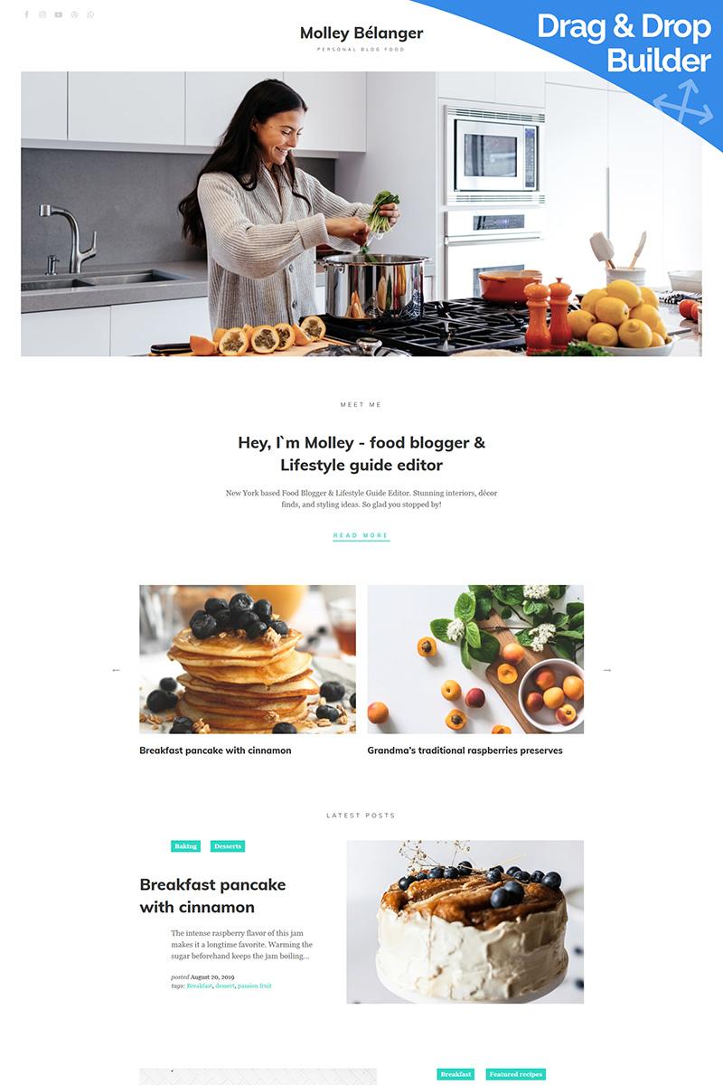 "Plantilla Moto CMS 3 ""Molley Belanger - Food blog"" #86157"