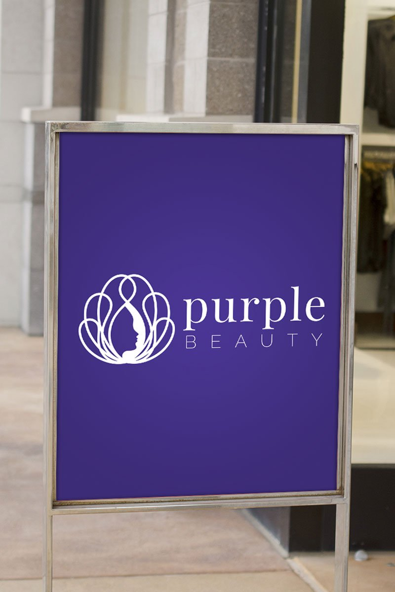 Purple Beauty Logo Template