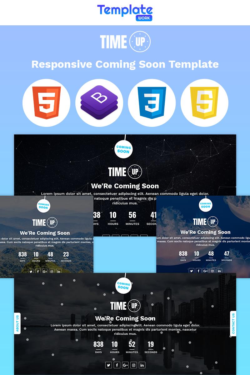 Responsive Time Up - Coming Soon Özel Sayfaları #86195 - Ekran resmi