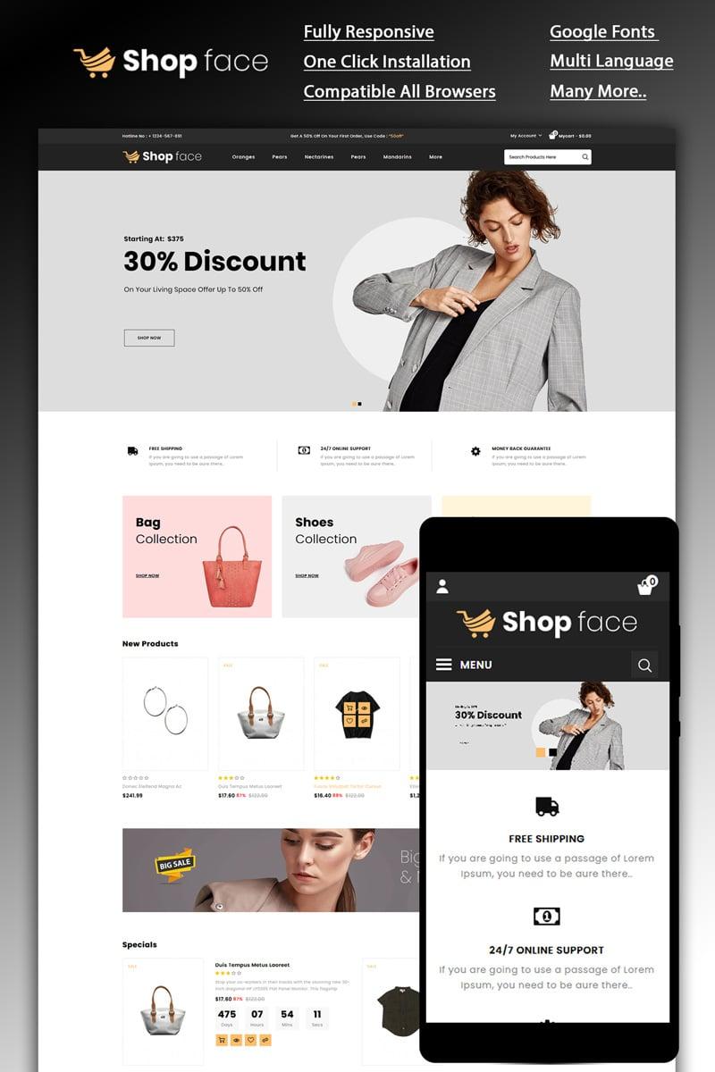 Shopface - Fashion Store OpenCart Template