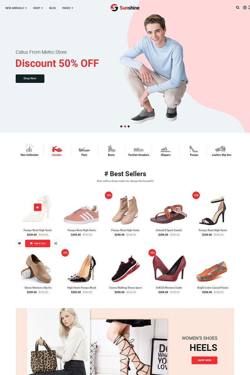 """SM Sunshine"" Magento Thema №86162"