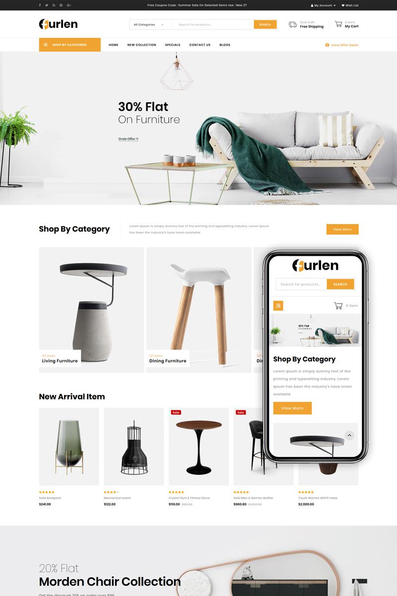 "Template OpenCart Responsive #86158 ""Furlen - Home Decor Store"""