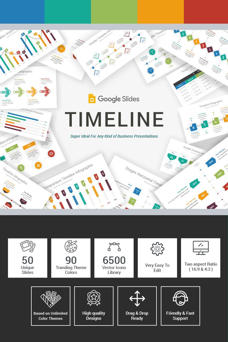 """""""Timeline"""" 奖金Google Slides #86138"""