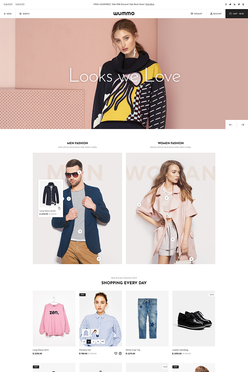 Wummo WooCommerce Theme - screenshot