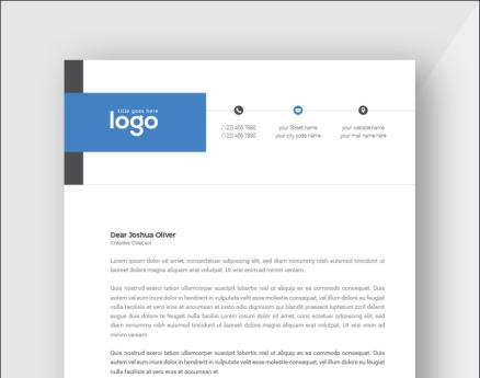 Blue and Black Minimal Letterhead Corporate Identity