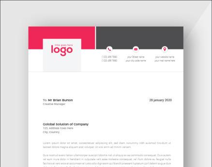 Clean Letterhead Corporate Identity