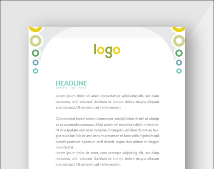 Colorful Letterhead Corporate Identity