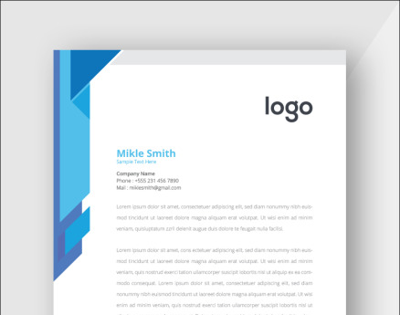 Blue Colour Corporate Letterhead Corporate Identity
