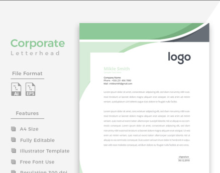 Creative Green and Black Corporate Identity