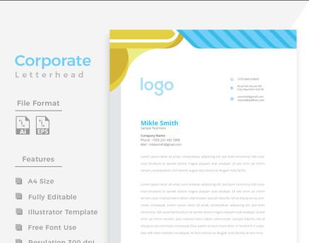 Design Pro Minimal Letterhead y Corporate Identity