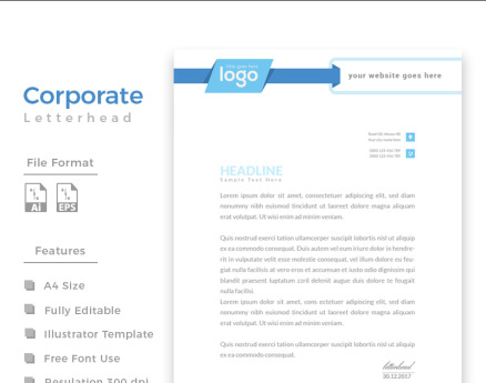 Design Pro Letterhead Corporate Identity