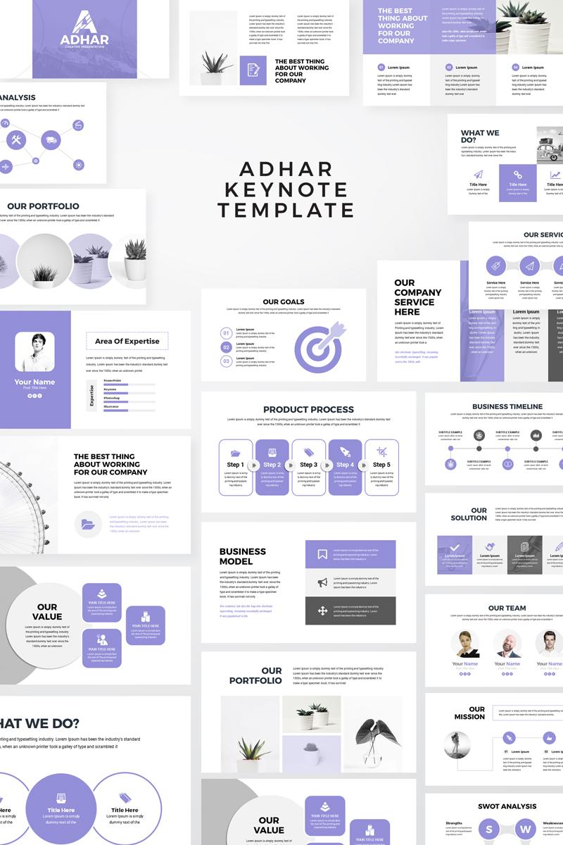 Adhar - Modern Minimal Keynote Template #86281 - skärmbild