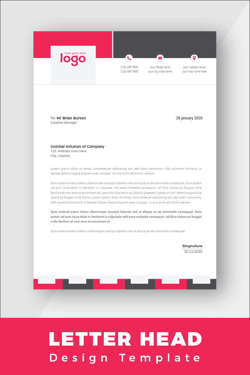 Clean Letterhead Corporate Identity Template - screenshot