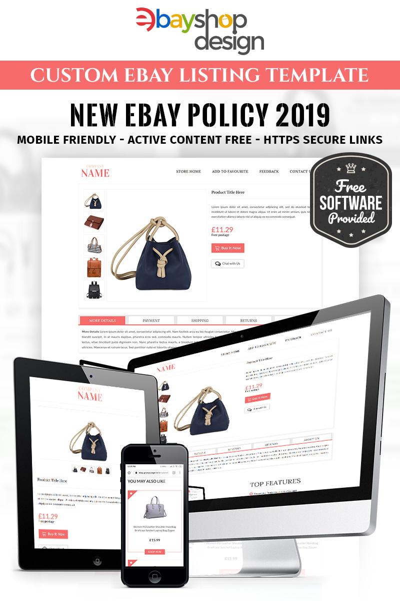 """Corrs Promotions V2"" - адаптивний eBay шаблон №86292 - скріншот"