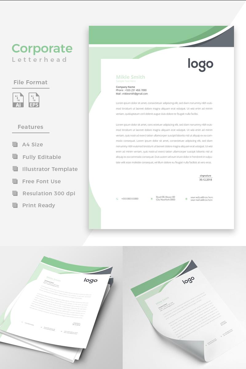"""""""Creative Green and Black"""" Bedrijfsidentiteit template №86266 - screenshot"""