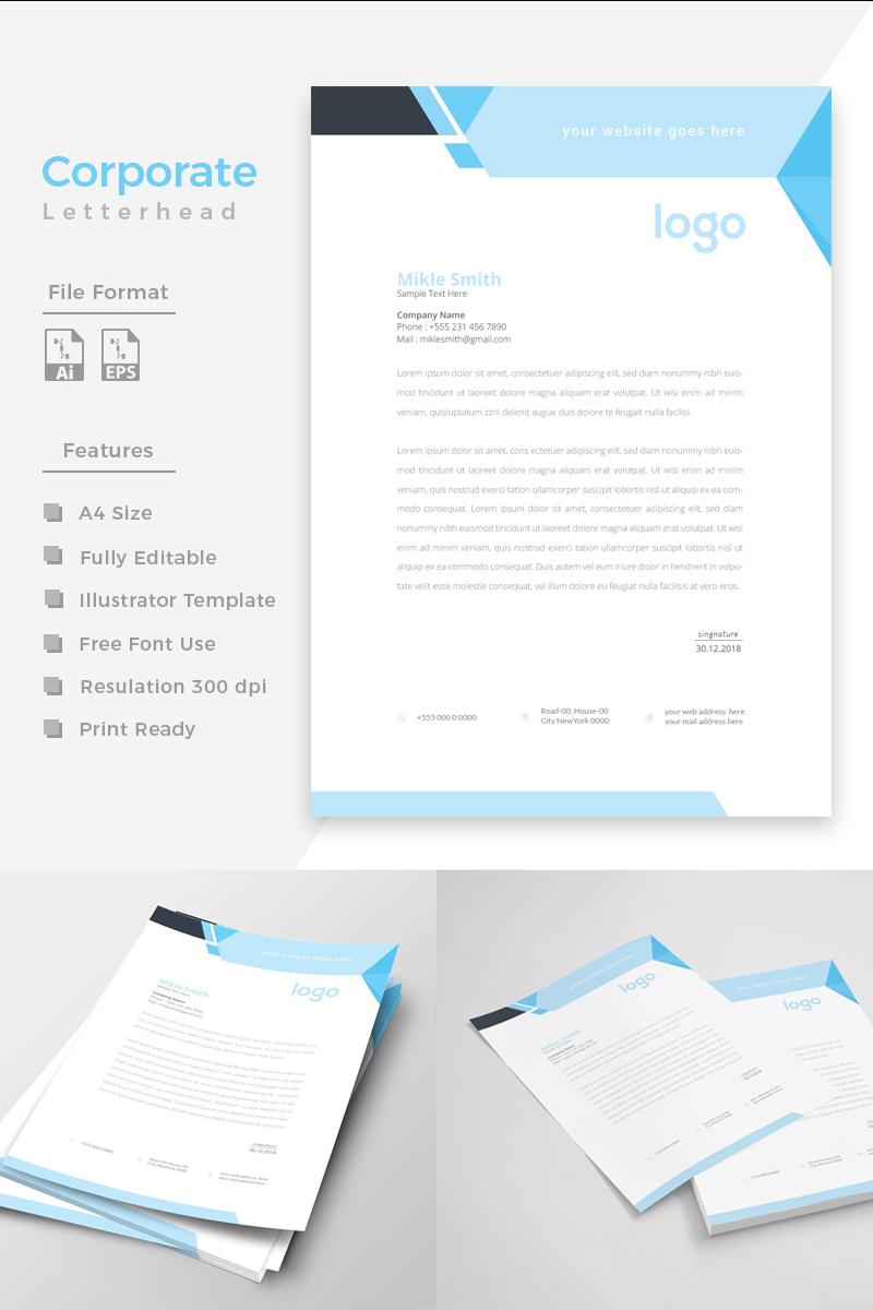 Cyan & Black Letterhead Template de Identidade Corporativa №86272 - captura de tela