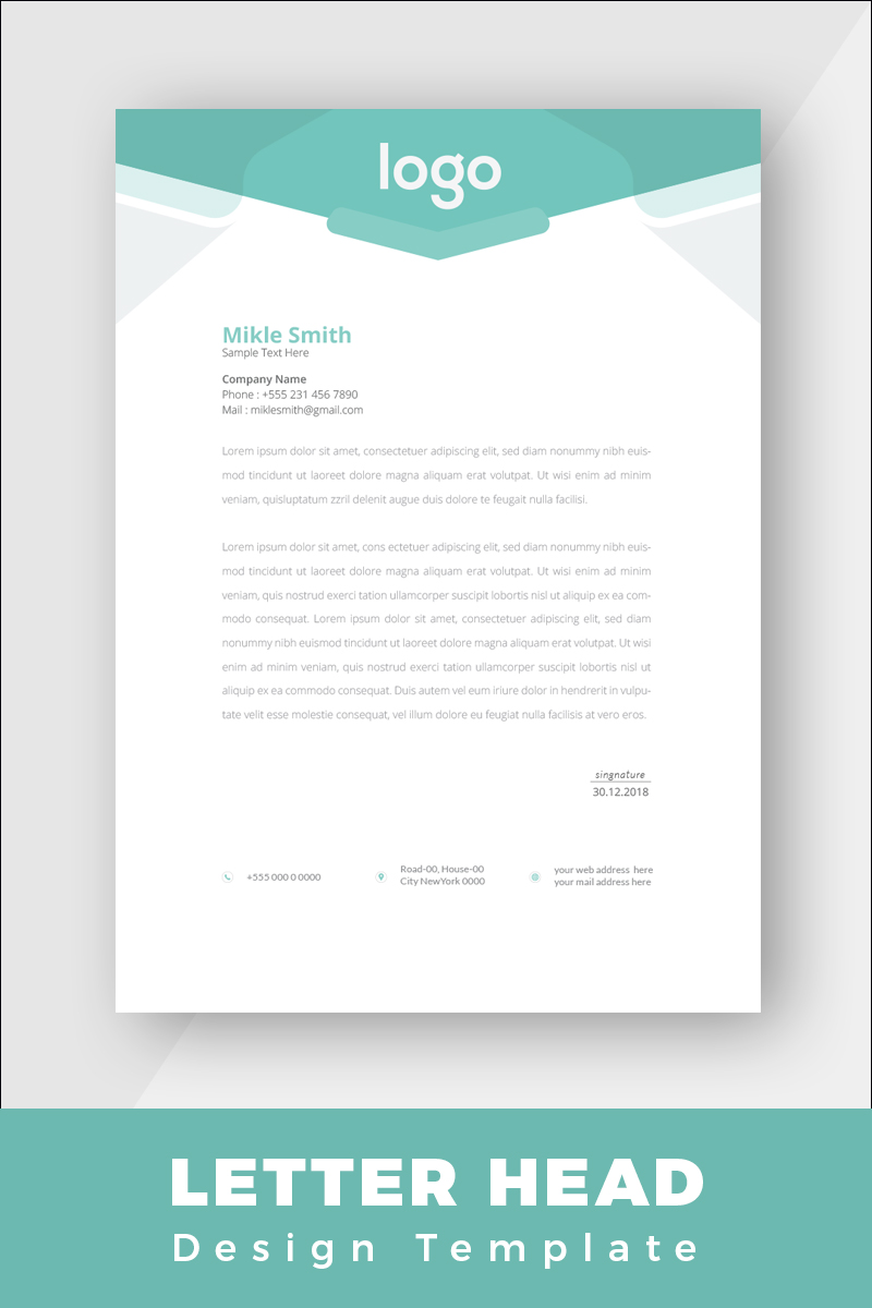 """Design Pro Creative Letterhead"" Bedrijfsidentiteit template №86267 - screenshot"