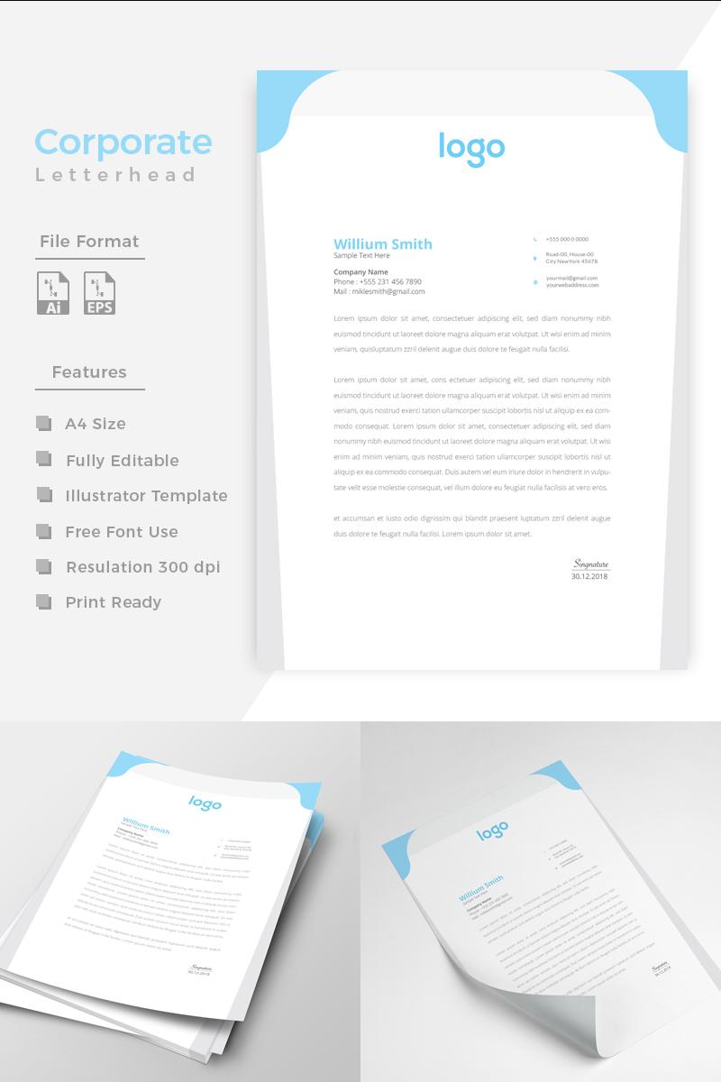 Design Pro Creative Letterhead Márkastílus sablon 86201 - képernyőkép