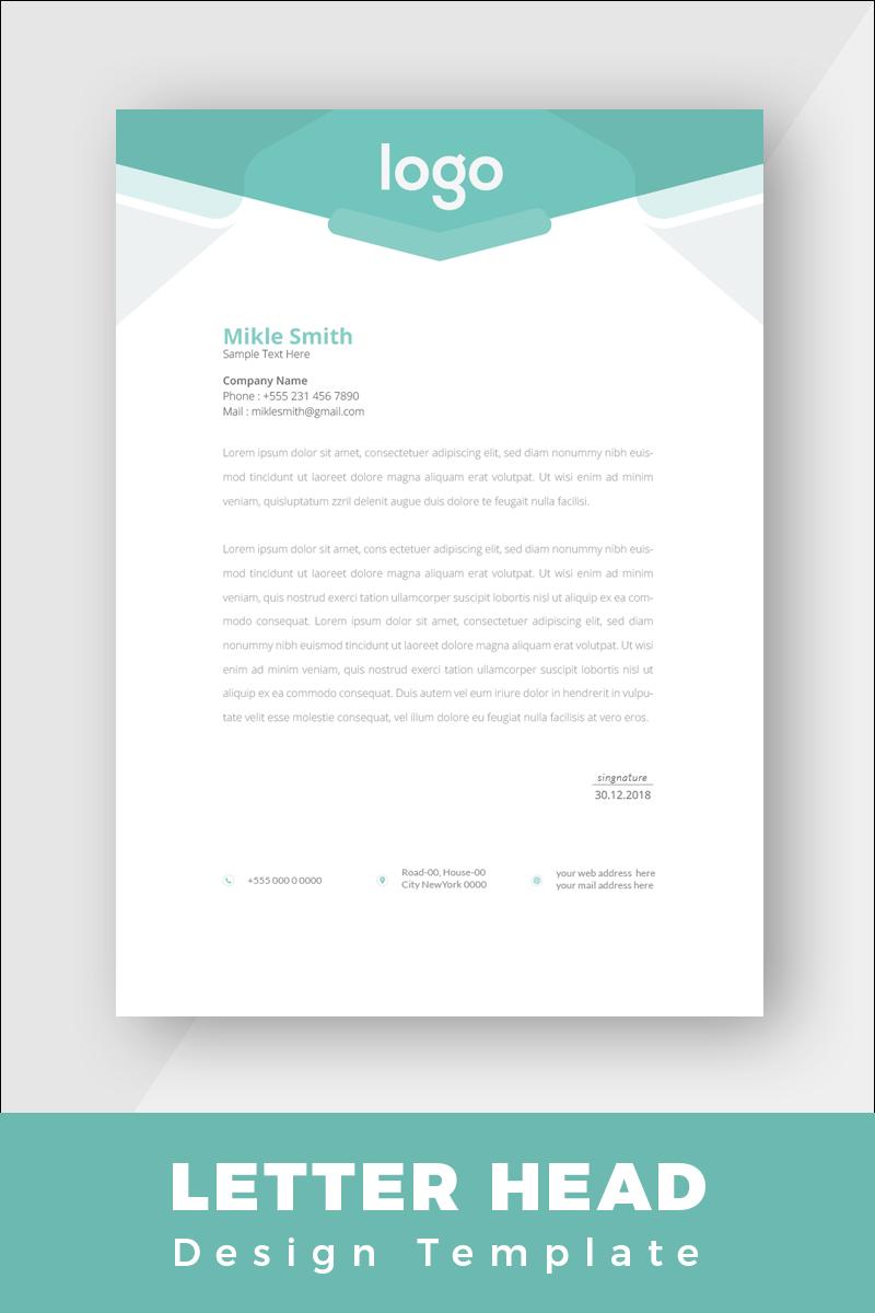 """Design Pro Creative Letterhead"" - Шаблон фірмового стилю №86267 - скріншот"