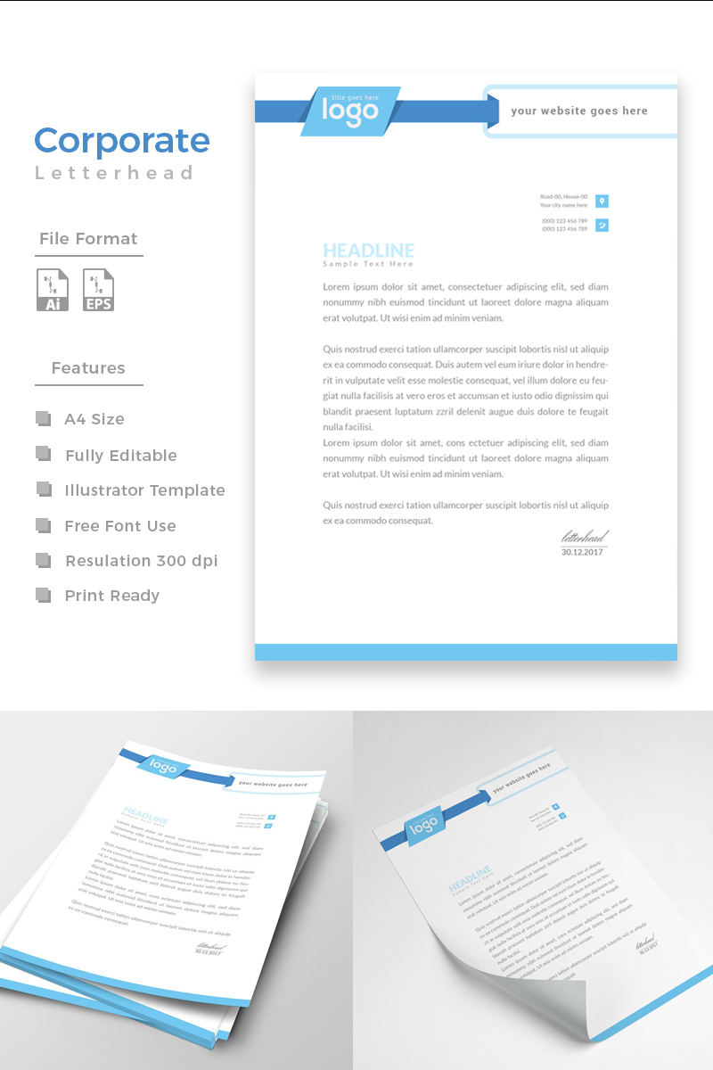 Design Pro Letterhead Corporate identity-mall #86276 - skärmbild