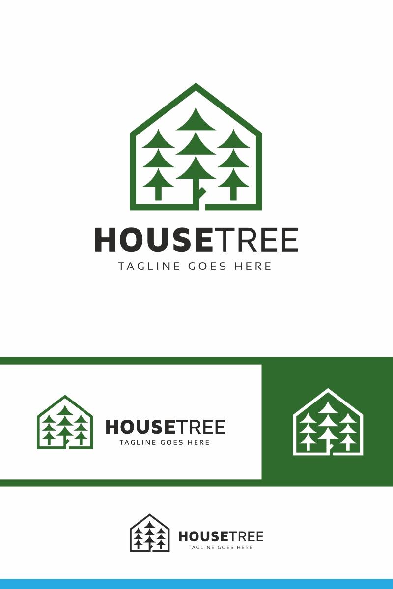 """""""House Tree"""" Logo template №86296 - screenshot"""