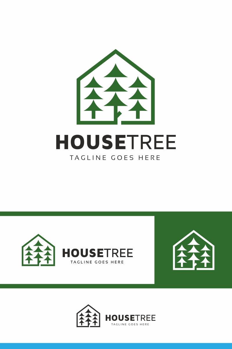 House Tree Logo Template