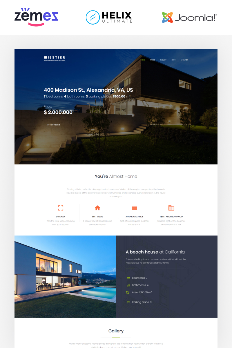 Iestier - Real Estate Modern Joomla Template