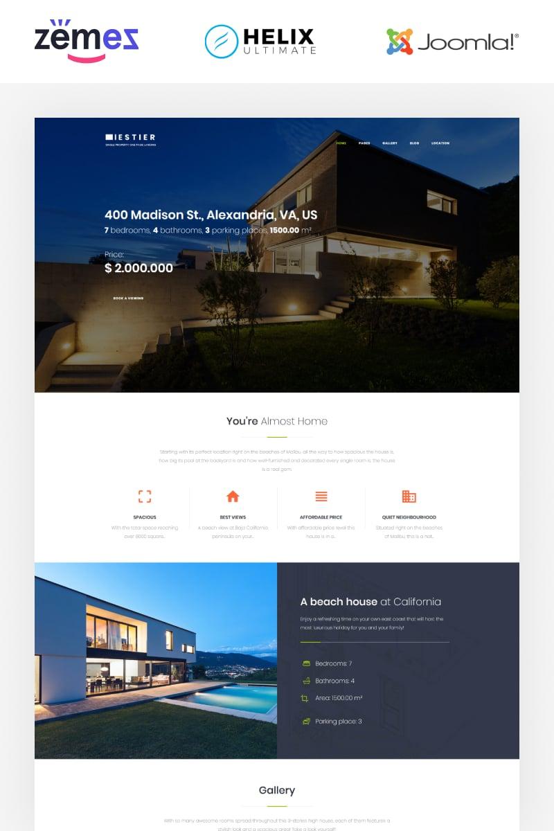Iestier - Real Estate Modern Template Joomla №86295 - captura de tela