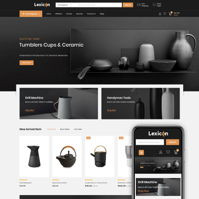 Lexicon - kitchen Accessories Store OpenCart Template #86223