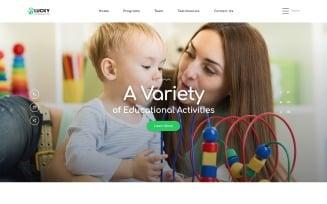 Lucky - Kindergarten Clean HTML Landing Page Template