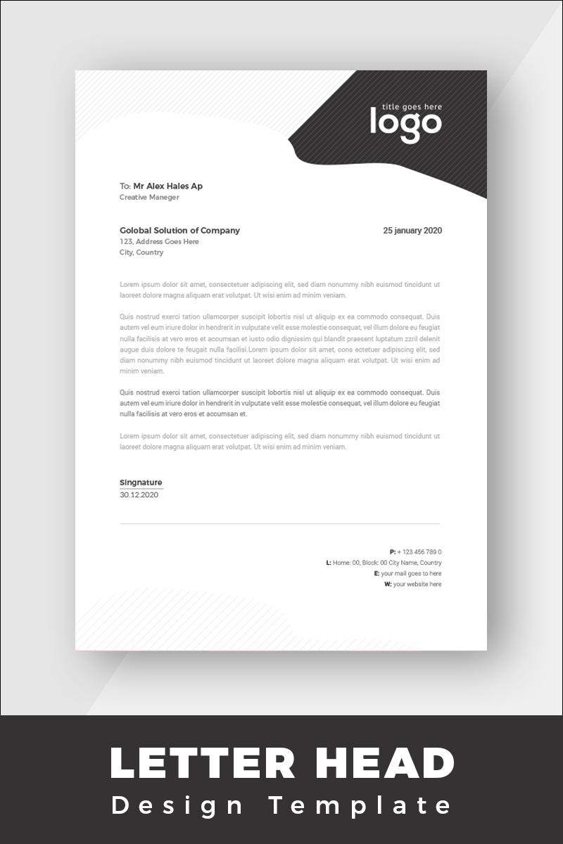 """""""Minimal Letterhead"""" Bedrijfsidentiteit template №86260 - screenshot"""