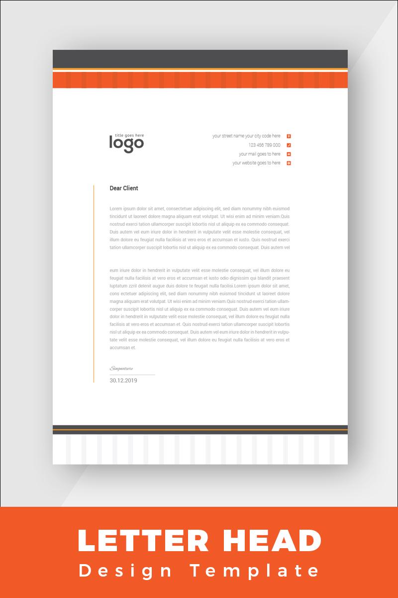 """""""Minimal Letterhead"""" Bedrijfsidentiteit template №86265 - screenshot"""