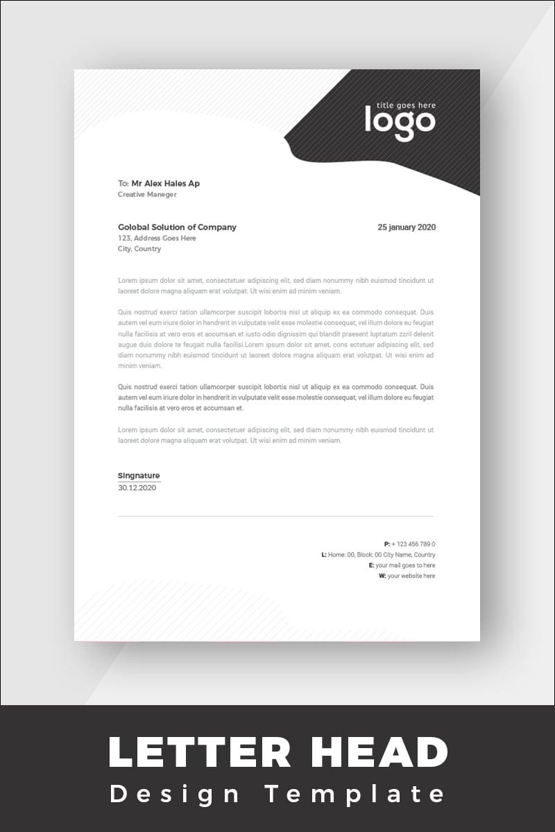 Minimal Letterhead Corporate Identity Template - screenshot