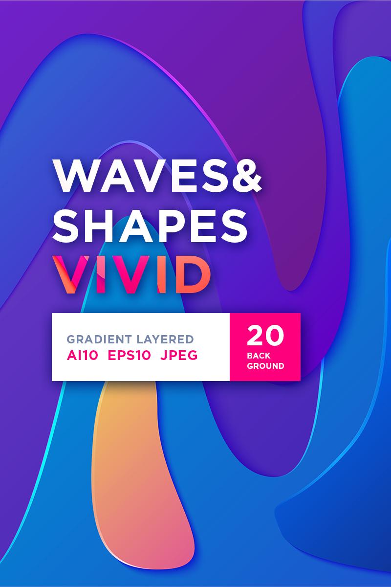 "Modello Illustrazione #86279 ""Waves&Shapes Vivid"" - screenshot"