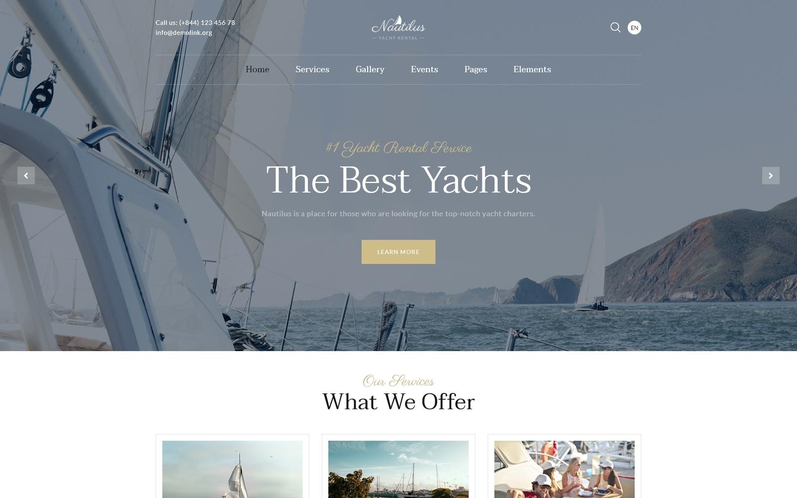 Nautilus - Yachting HTML-websitesjabloon met meerdere pagina's