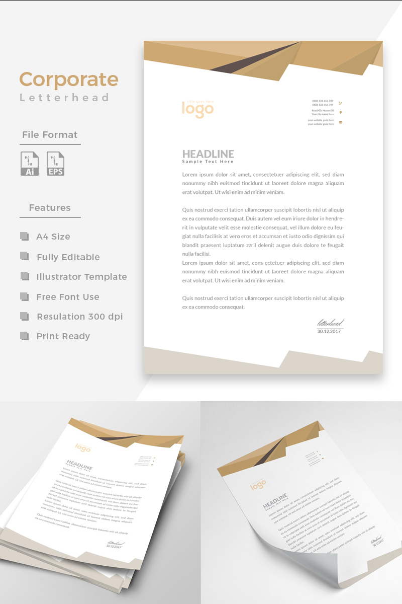 """Office Letterhead"" design d'Entreprise  #86273 - screenshot"