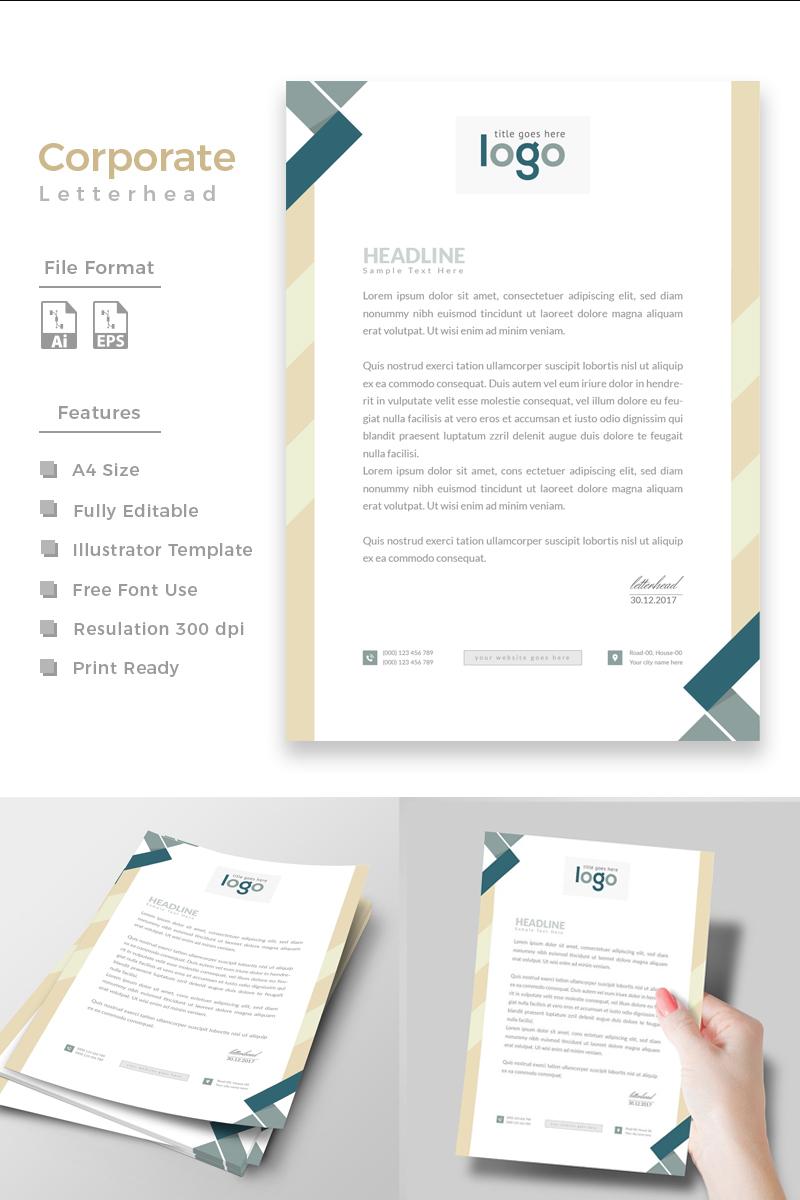 One Color Letterhead Design Corporate Identity Template - screenshot