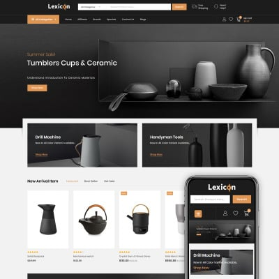"OpenCart шаблон ""Lexicon - kitchen Accessories Store"" #86223"