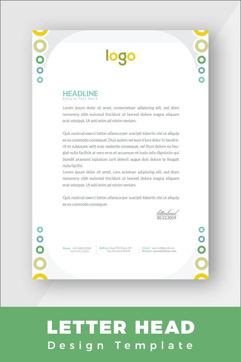 "Plantilla De Identidad Corporativa ""Colorful Letterhead"" #86262 - captura de pantalla"