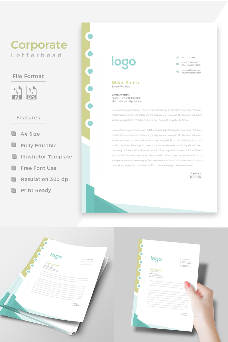 "Plantilla De Identidad Corporativa ""Design Pro Letterhead"" #86275 - captura de pantalla"