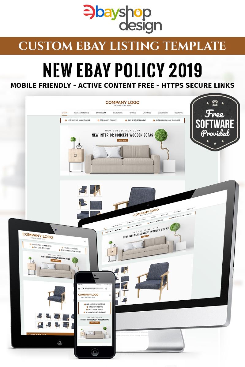 """Plantilla EBay """"Furniture Listing Design V1"""" #86291 - captura de pantalla"""